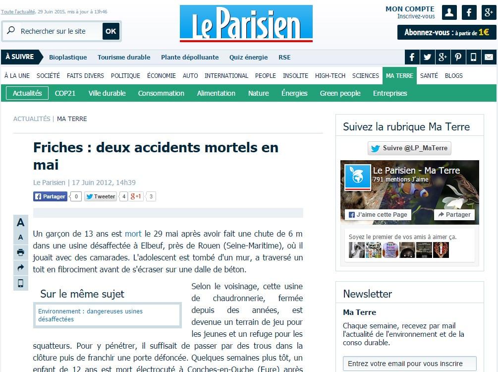 http://www.leparisien.fr/environnement/friiches-deux-accidents-mortels-en-mai-17-06-2012-2052846.php