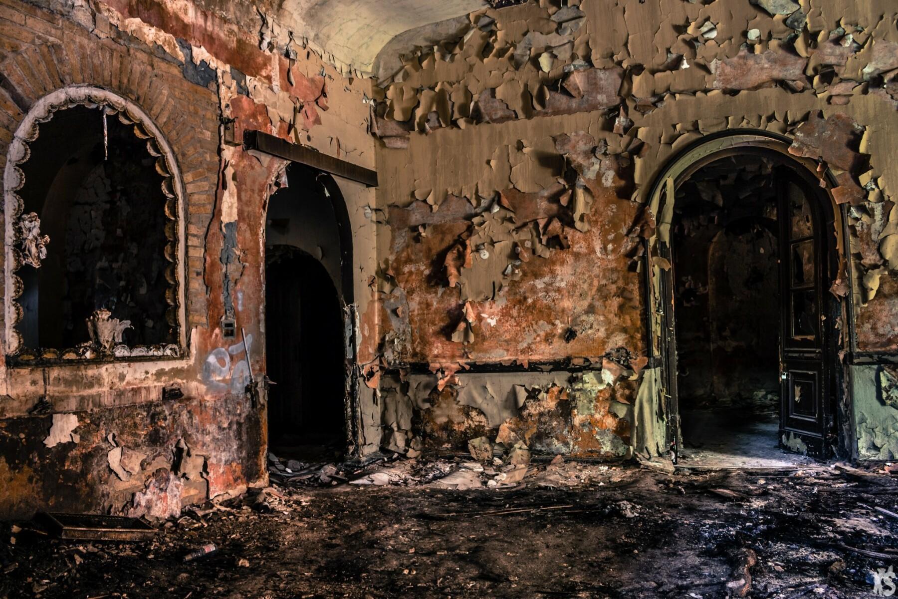 Salle de bal abandonnée en Allemagne