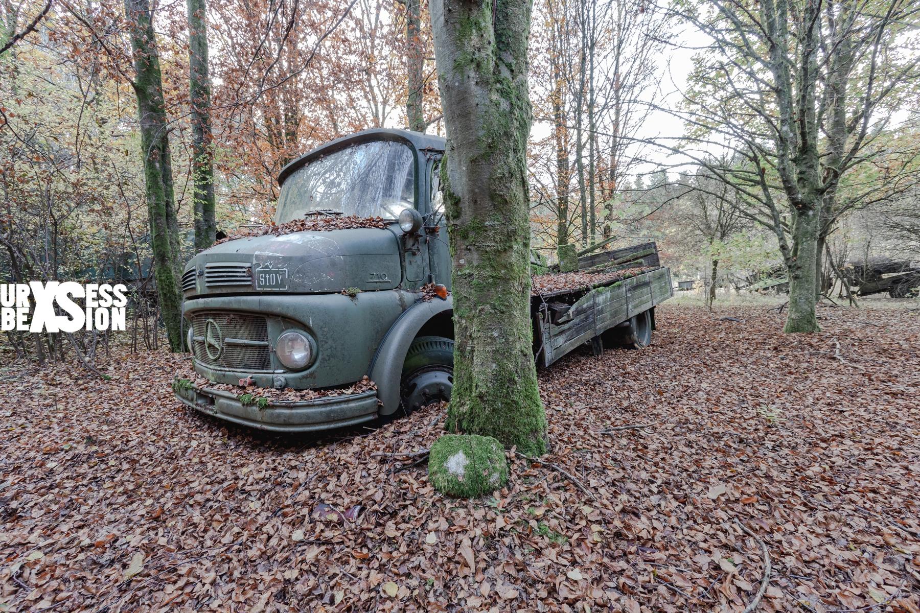 Cimetière de véhicules situé en Belgique : https://urbexsession.com/cimetiere-de-vehicules-fritzl